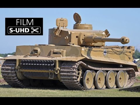 German WW2 TIGER tank Great Sound Tiger Tank in action- filmed in 4K S-UHD thumbnail