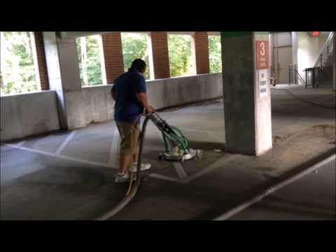 Parking deck cleaning