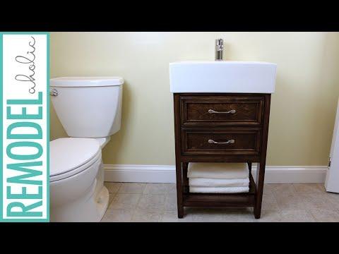 IKEA Hack: Small Bathroom Vanity Building Tutorial