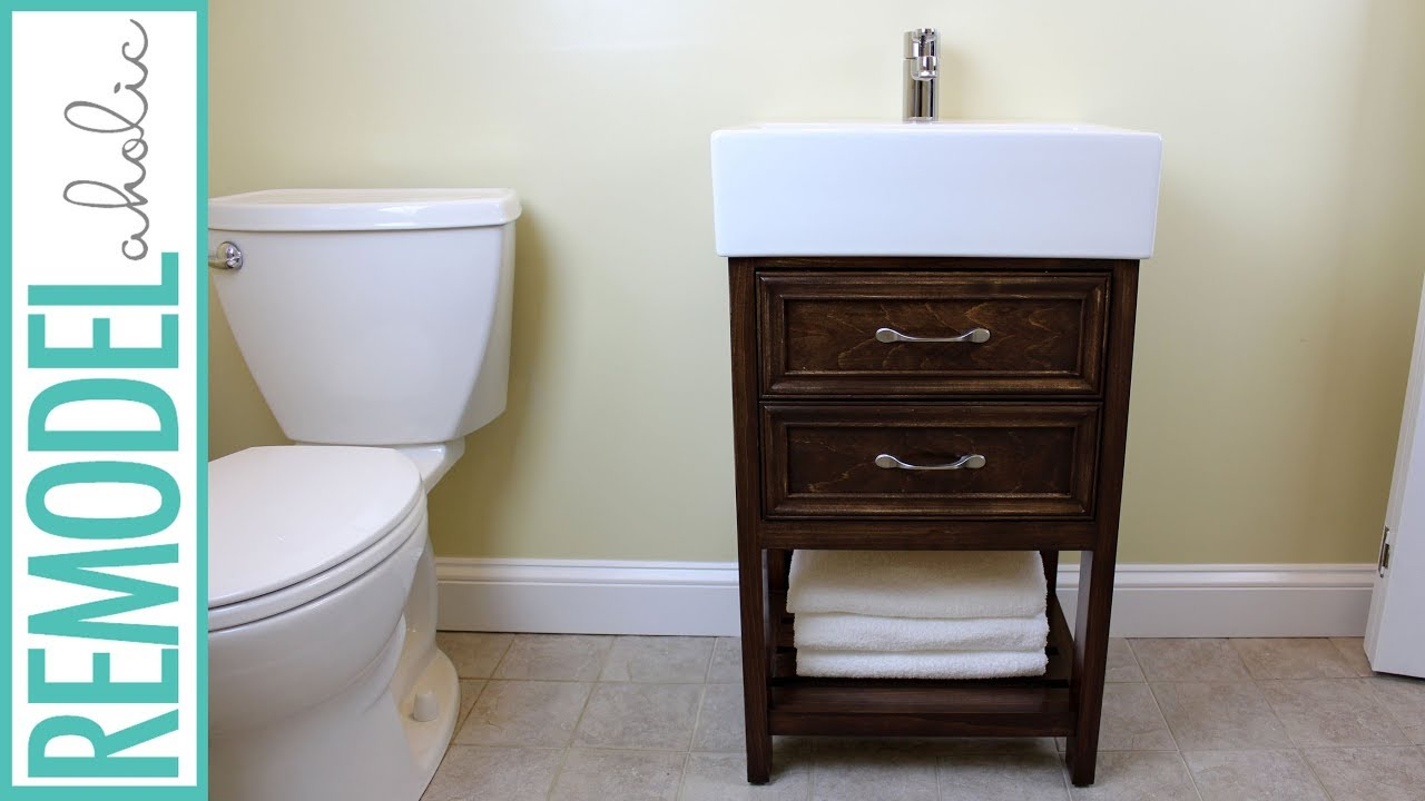 Ikea Hack Small Bathroom Vanity Building Tutorial