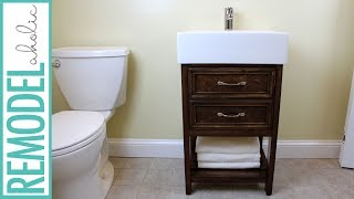 IKEA Hack: Small Bathroom Vanity Building Tutorial