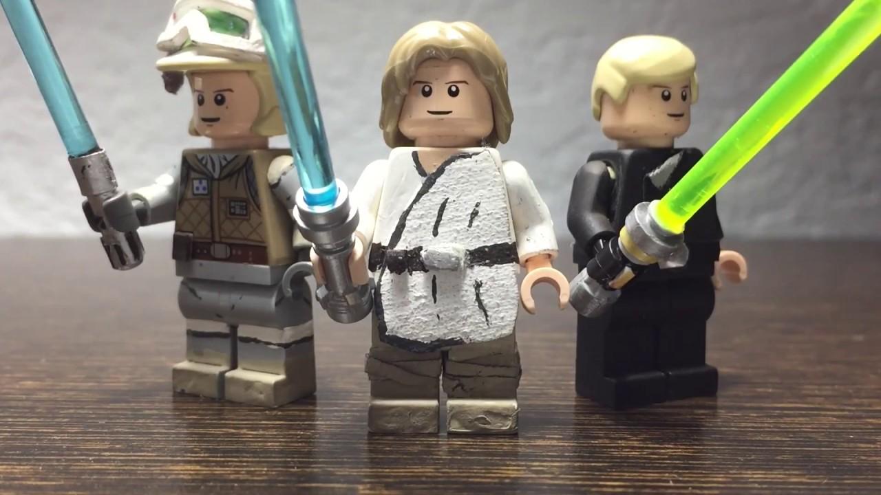 Custom Lego Star Wars Luke Skywalker Episodes 4 6 Youtube