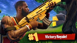 TURNING INTO LEBRON JAMES IN SQUAD VICTORY! Fortnite Battle Royale Gameplay Ep. 24