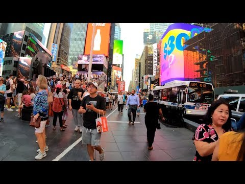 ⁴ᴷ⁶⁰ Walking NYC (Narrated) : Greeley Square To Times Square Via Broadway (July 25, 2019)