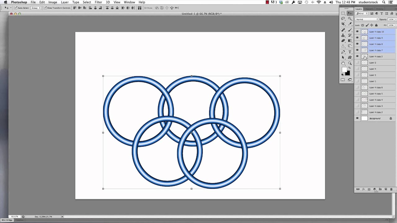 Photoshop tutorial how to make the olympic rings using photoshop photoshop tutorial how to make the olympic rings using photoshop layers baditri Image collections