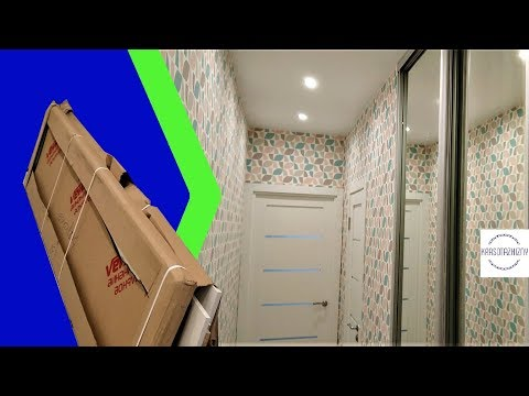 Встроенный шкаф в квартире студии 22 кв.м. Маленькая прихожая в квартире-студии.