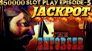 The ENFORCER Slot Machine HANDPAY JACKPOT & Live Play  | SEASON 6 | EPISODE #5
