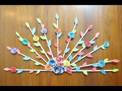 diy-home-/-door-decor-idea-|-paper-crafts-for-home-decoration-|-how-to-make-paper-craft-step-by-step