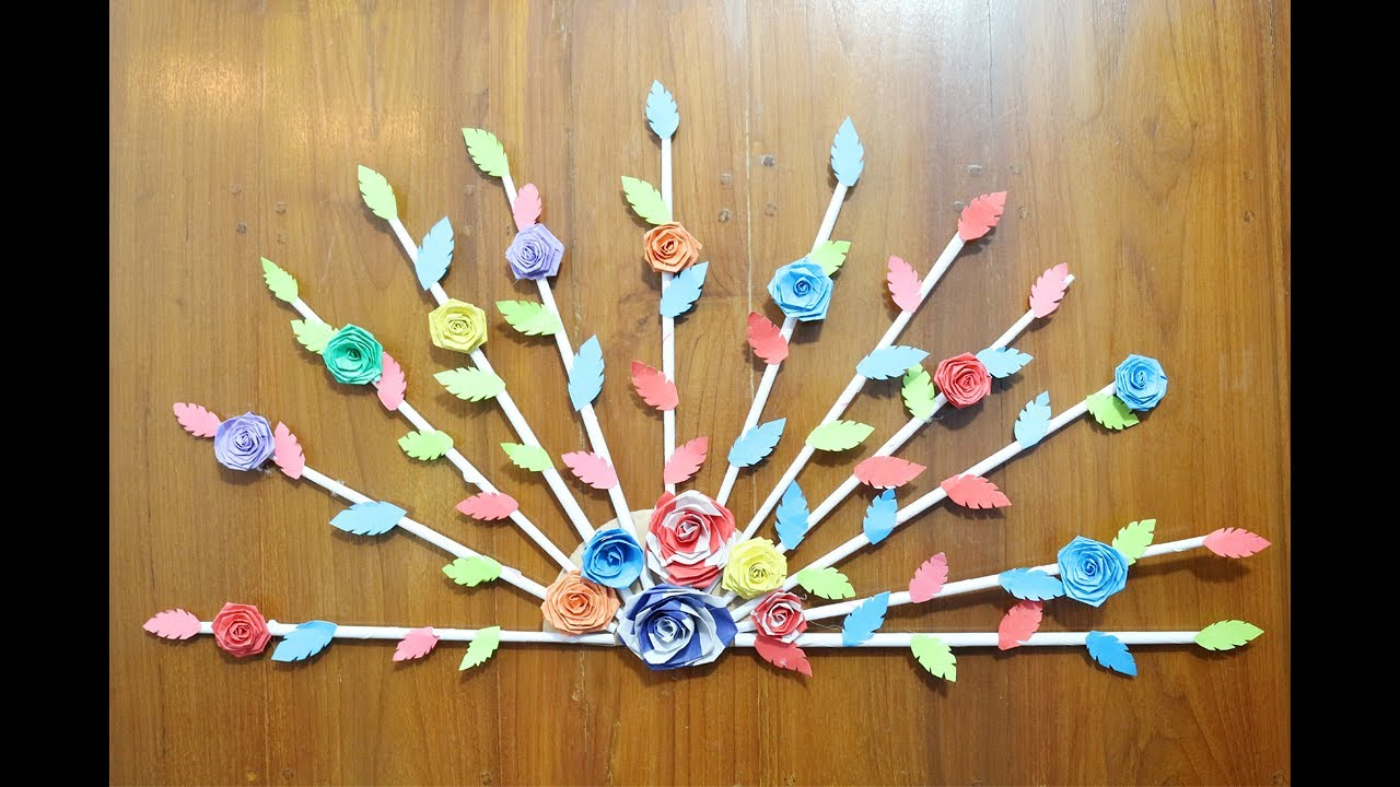 Diy home door decor idea paper crafts for home decoration how to make paper craft step by Home decor craft step by step