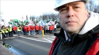 Blokada DK44 w Bieruniu [Wideo: K. Świerkot, Dziennik Zachodni]