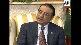 WRAP AP interview with Pakistan President Zardari
