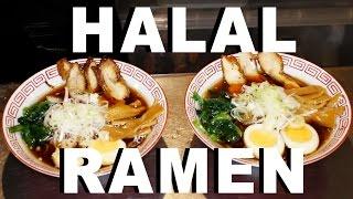 Halal ramen noodles at Asakusa Naritaya Japanese restaurant (Tokyo, Japan) with Malik Majid Ali