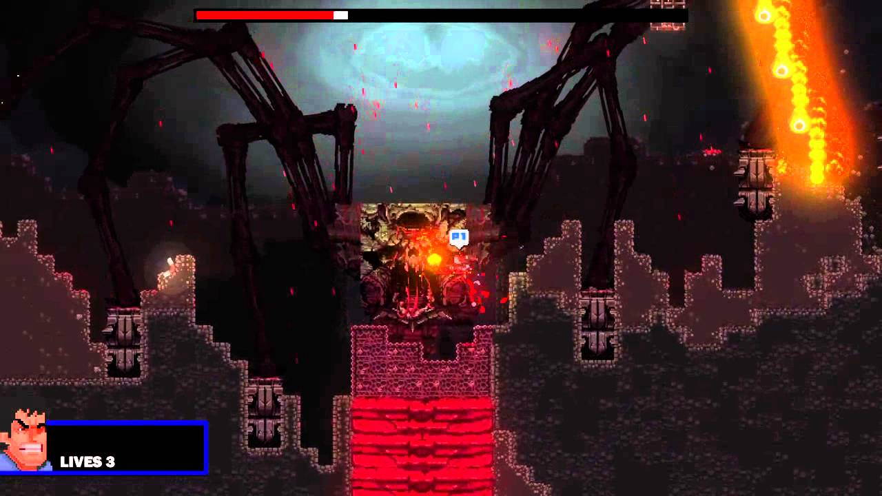 Broforce - Satan Final Form - Solo - Hard Difficulty - YouTube