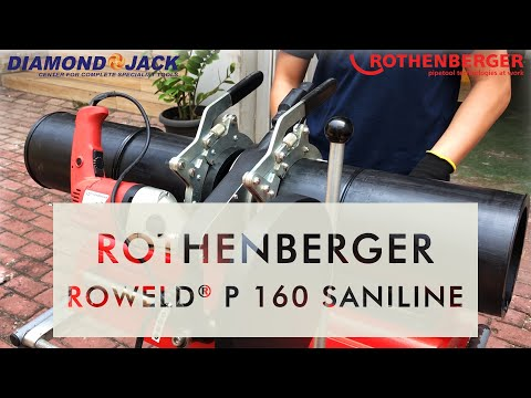 ROTHENBERGER - ROWELD P160 SANILINE / Mesin Penyambung Pipa HPDE, PE, PPE, PPR