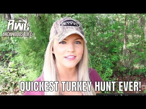 Quickest Turkey Hunt Ever, Georgia Gobbler Comes In