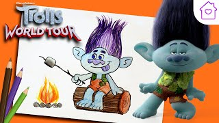 How to Draw BRANCH From TROLLS! | #CAMPDREAMWORKS DRAW-ALONG