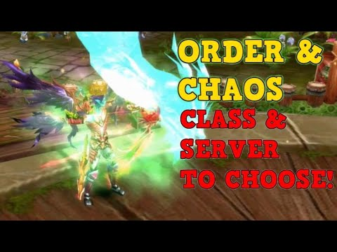 SERVER & CLASS TO CHOOSE | Order & Chaos Online Classic