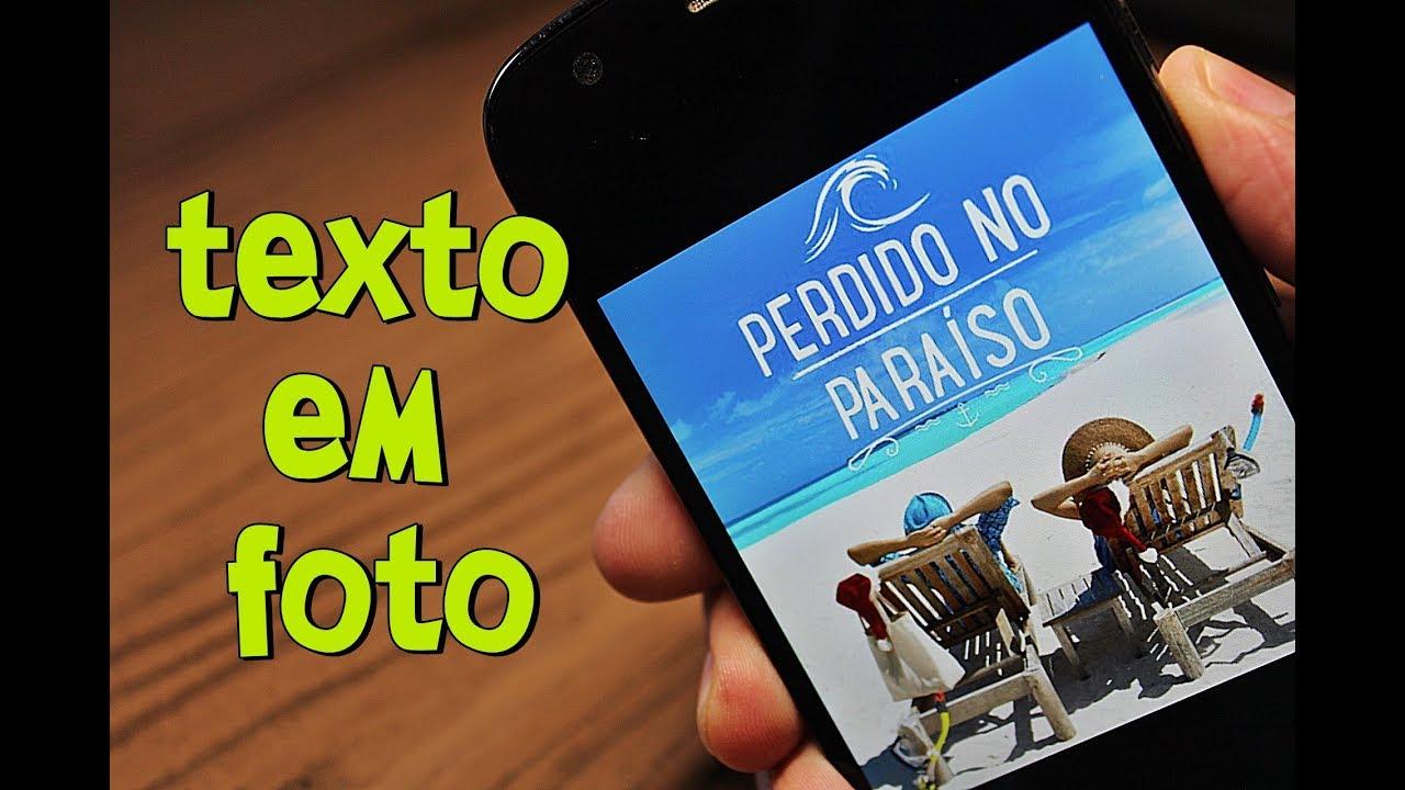 Nova Sensação Como Colocar Texto Em Foto Melhor App Para Android