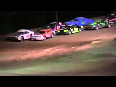 My first feature win at mt. Pleasant speedway June 26, 2015