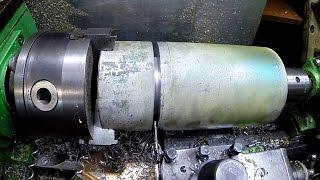 Отрезание 100 мм на Токарном ТВ-4