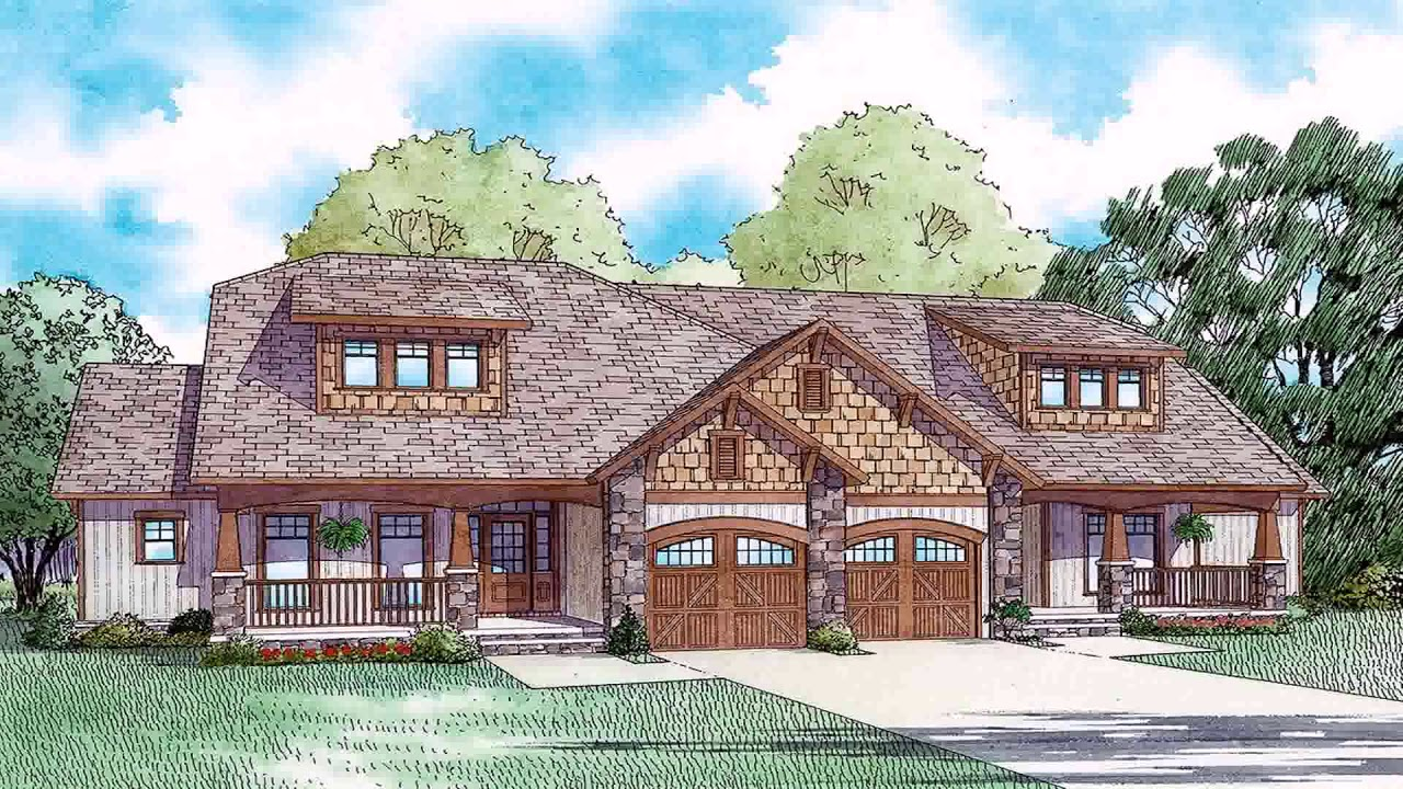 Craftsman style house plans with mother in law suite youtube for Craftsman house plans with mother in law suite