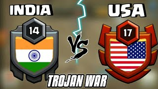 🔥🤔 INDIA VS USA TROJAN WAR|CLASH OF CLANS|INDIA VS USA WAR WHO WILL WIN?
