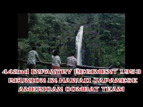 442nd INFANTRY REGIMENT 1953 REUNION IN HAWAII   JAPANESE AMERICAN COMBAT TEAM WWII  (Part 2) 90174