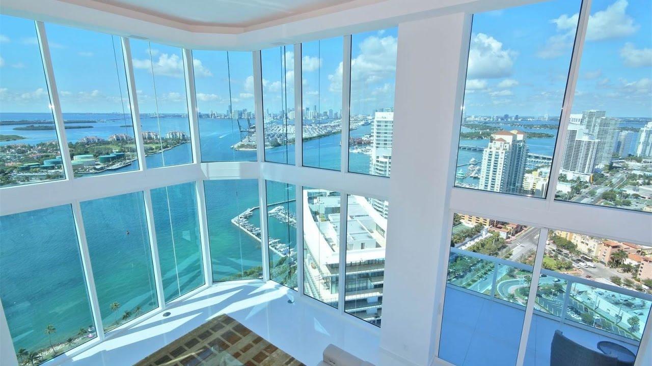 3 Story Portofino Towers Penthouse in Miami Beach Florida YouTube