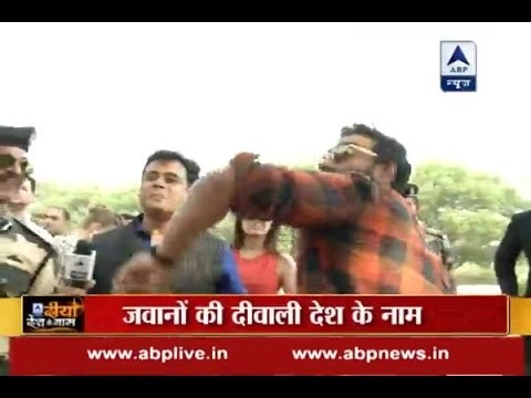 Ajay Devgn tries his hand at throwing hand grenade