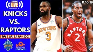 Knicks Get Stomped By Raps 😠| Knicks vs. Raptors| Knicks Post Game Reaction and Live Callers!