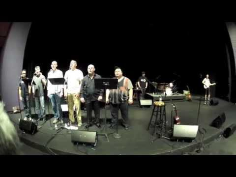 Storm Large rehearsal w Men Alive at the Barclay Theatre in Irvine CA 10/15/14