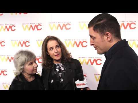 Debra Winger and Robin Morgan at the WMC Women's Media Awards with Arthur Kade