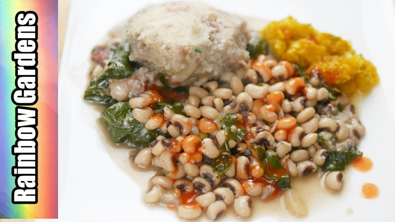 Southern Field Peas & Greens with Chive Cornmeal Dumplings - Spring ...