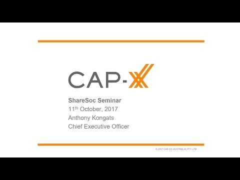 CAP-XX (CPX) ShareSoc growth seminar October 2017