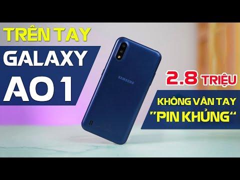 Trên tay Galaxy A01: Snapdragon 439, không vân tay, pin 3.000