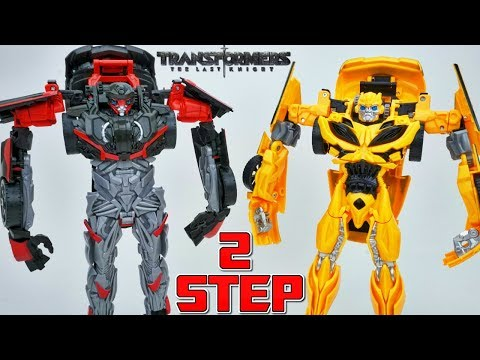 Thumbnail: TRANSFORMERS THE LAST KNIGHT 2 STEP FLIP CHANGERS HOT ROD BUMBLEBEE 360 CHANGERS COOL OR NOT?