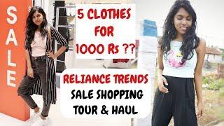 Reliance Trends 1000 Rs Challenge - Trends EOSS Haul & Ajio EOSS 2019 | AdityIyer