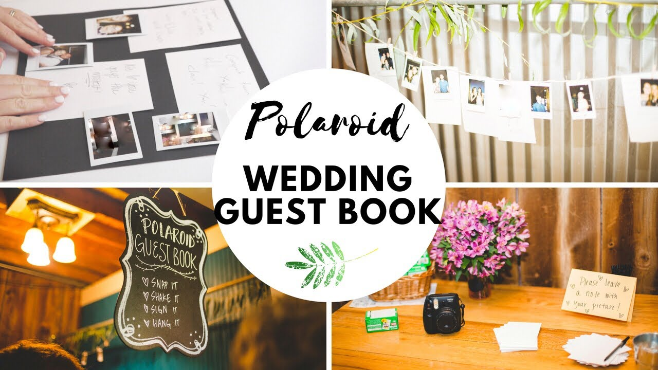 Polaroid Wedding Guest Book.Diy Polaroid Wedding Guest Book Photo Booth Em At Home