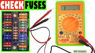 How to check car fuses without pulling them out - Testing fuses with a Multimeter