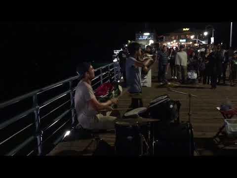 Santa Monica Pier Got Talent #2 ft. @oliverbohlermusic @kievmoralesviolin
