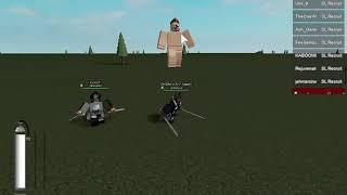 Roblox Attack on titan Project SL PD (MIA)