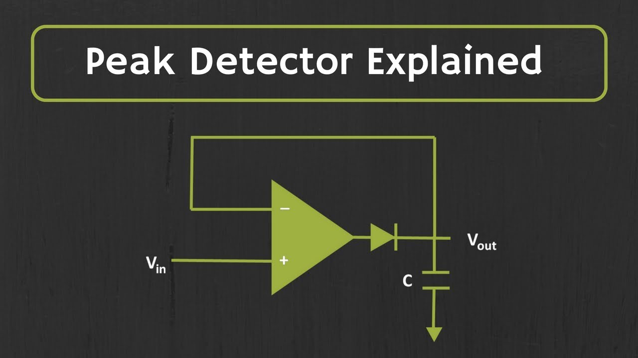 peak detector circuit explained youtube rh youtube com Peak Voltage Detector Negative Peak Detector Circuit