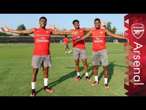 Chuba Akpom's Arsenal Snapchat takeover
