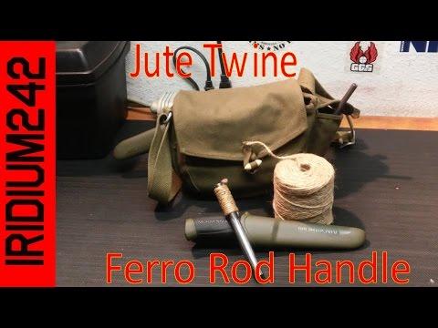 Jute Twine Ferro Rod Handle
