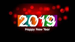 Happy New Year Wallpaper design di coreldraw