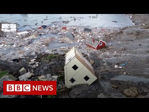 Norway landslide: Buildings swept away in Alta disaster - BBC News