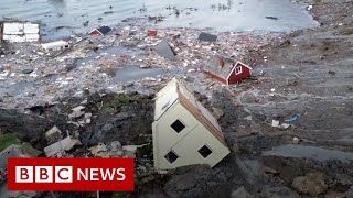 Norway landslide: Buildings swept away in Alta disaster - BBC News