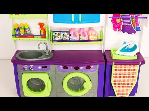 Laundry Washer and Dryer Playset for Kids