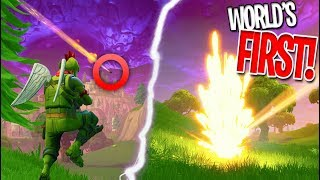 *WORLD'S FIRST* METEOR GAMEPLAY IN FORTNITE BATTLE ROYALE! NEW METEOR STRIKES! (Not Clickbait)