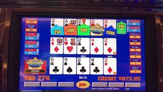 Super Triple play Jackpots .25 triple play video poker